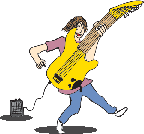 Illustration of Scott playing guitar